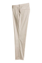 Suit trousers Slim fit - Light beige - Men | H&M CN 3
